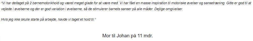 Udklip - mor til Johan